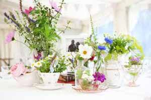 vintage country garden wedding table decorations