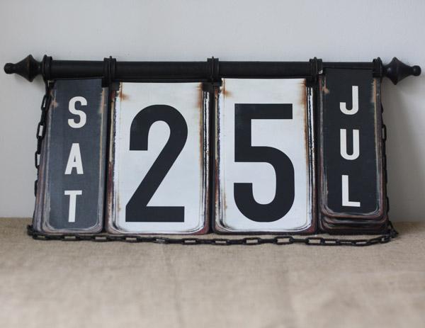 vintage hanging flip calendar