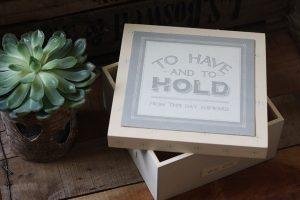wedding keepsake box o have and to hold