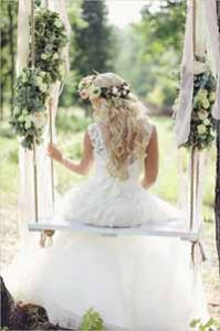 wedding swings secret garden
