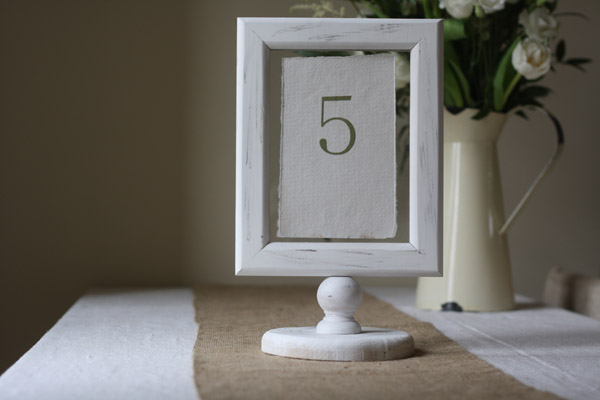 wedding table number holder photo frame