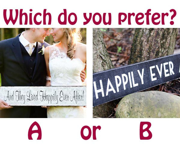 happily ever after wedding signs