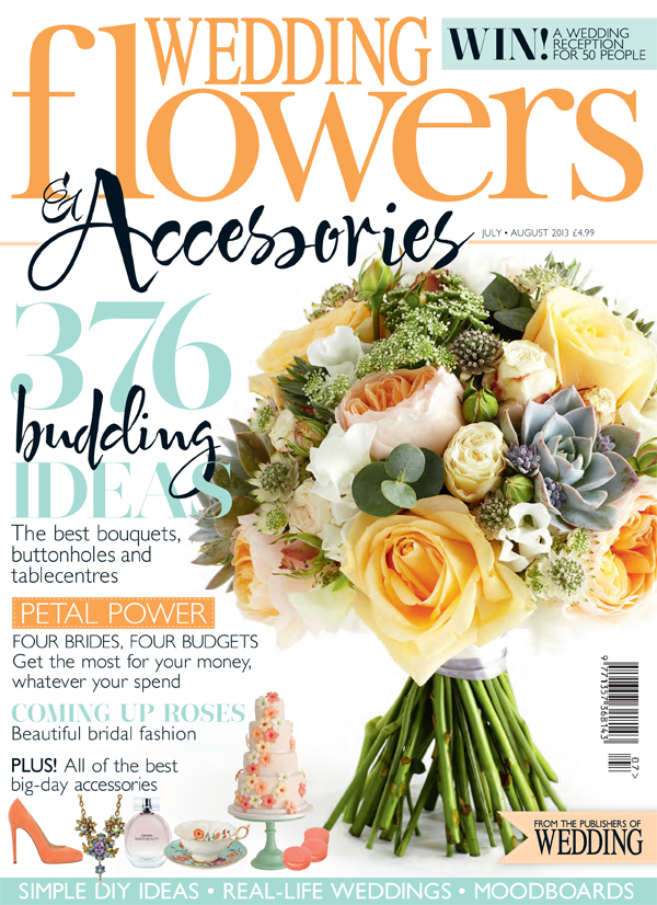 wedding flowers magazine July August 2013 front cover