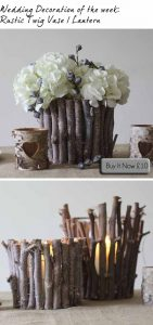 woodland wedding centrepiece twig vase