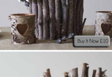 woodland wedding centrepiece twig vase