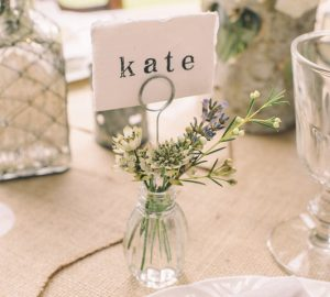 Bud Vase Wedding Place Card Holders