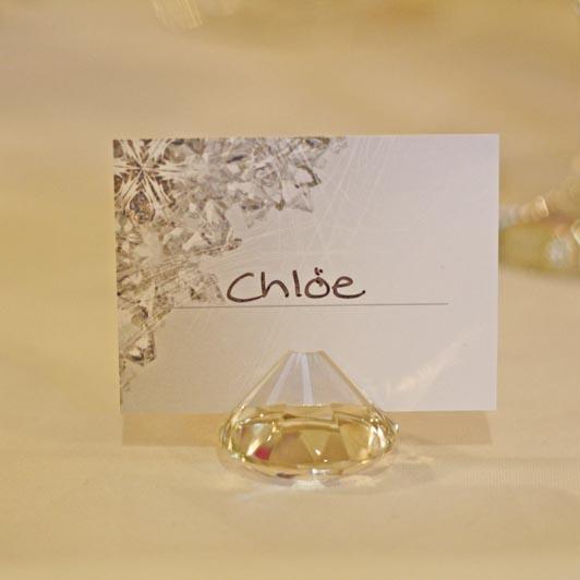 Diamond Wedding Place Card Holders
