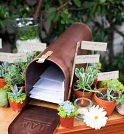 american vintage wedding mailbox card boxes