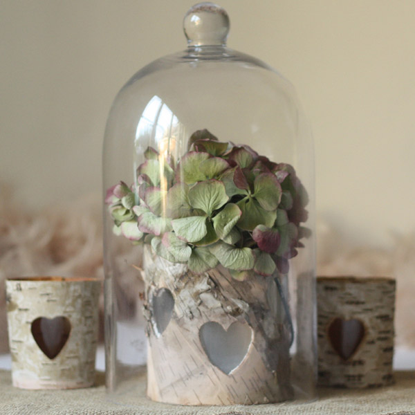 bell jars wedding centrepieces
