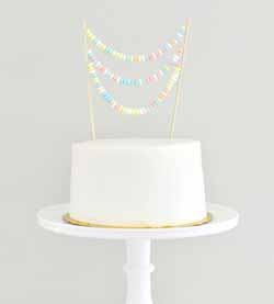candy necklace cake topper