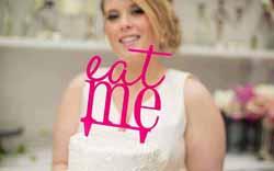 eat me cake topper Cake Topper