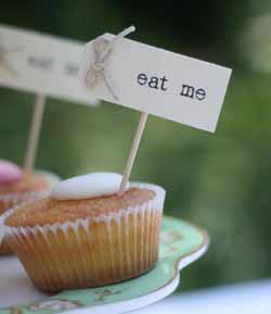 eat me flags cake toppers