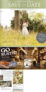 how to style a rustic glamour wedding