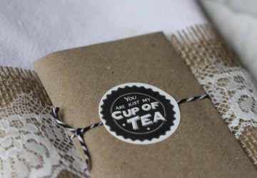 tea bag wedding favours