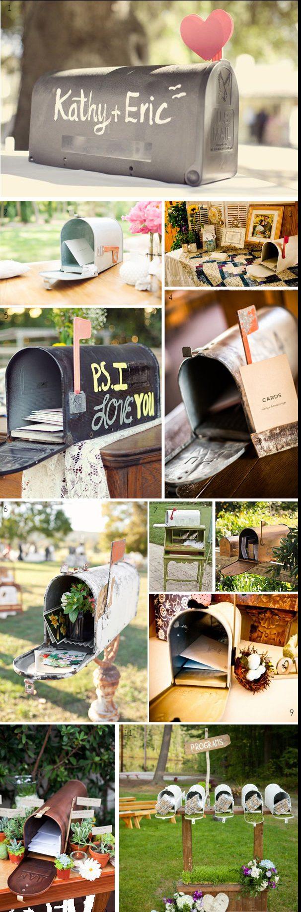 Wedding post box cards box american vintage weding mailbox