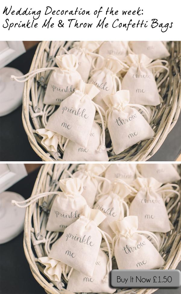 wedding confetti bags sprinkle me throw me