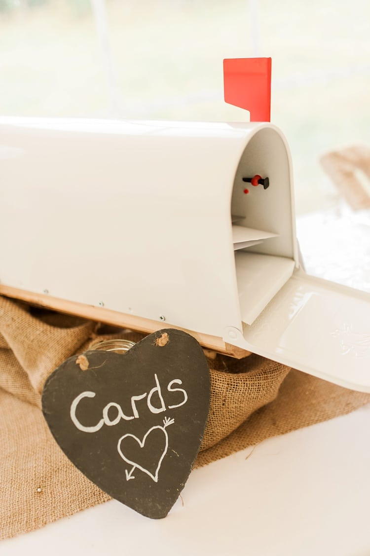 white wedding mail box cards box american style