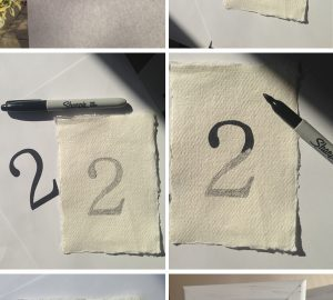 HOW TO HANDWRITE TRACE WEDDING TABLE NUMBERS