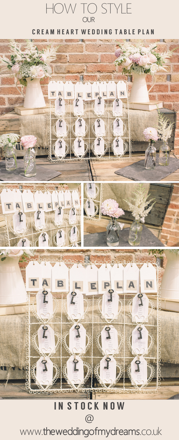 cream heart wedding table plan country garden wedding