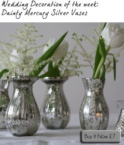 mercury silver vases wedding table decorations