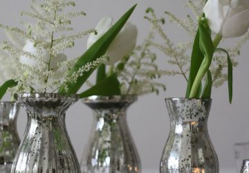 mercury silver vases wedding table decorations