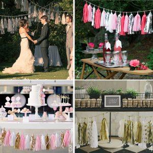 tassel garlands wedding