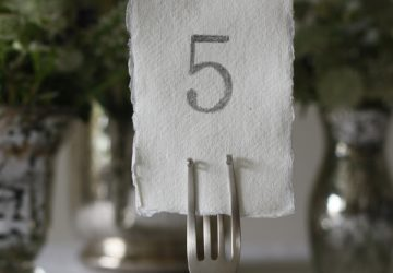 wedding place card holders table number holders forks