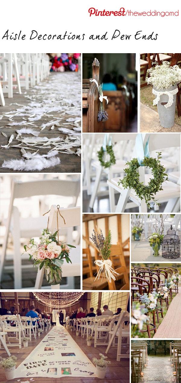 aisle decorations wedding pew ends ideas