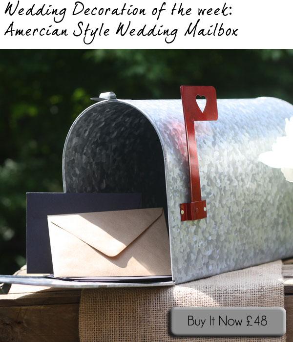 amercian style wedding mailbox postbox
