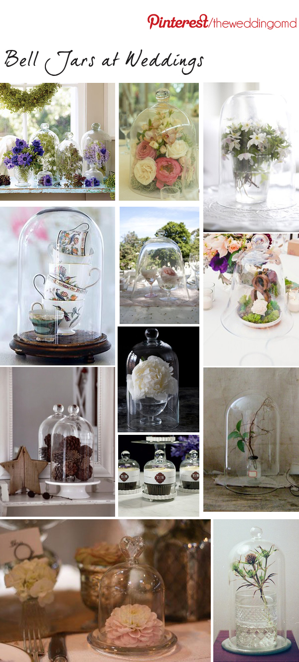 bell jars at weddings
