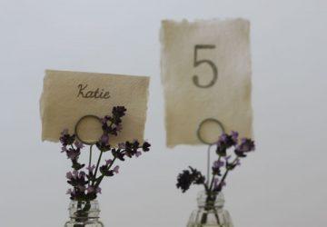 bud vase wedding name card holders