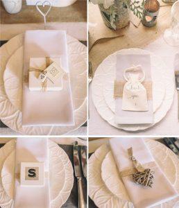 napkin decorations wedding favours