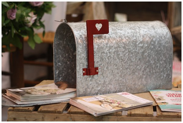 american style vintage mail box wedding cards box