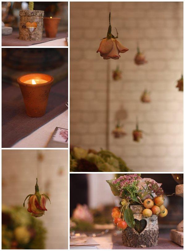 bark tea light holders bark vases scented candles in terracotta pots