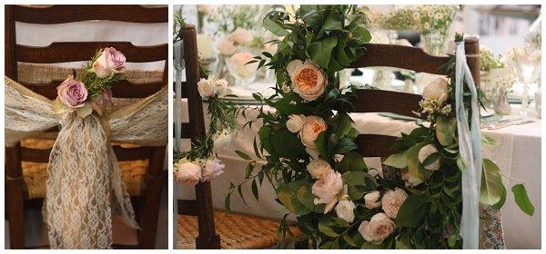 hessian chair backs wedding