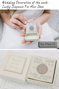 wedding lucky sixpence for her shoe