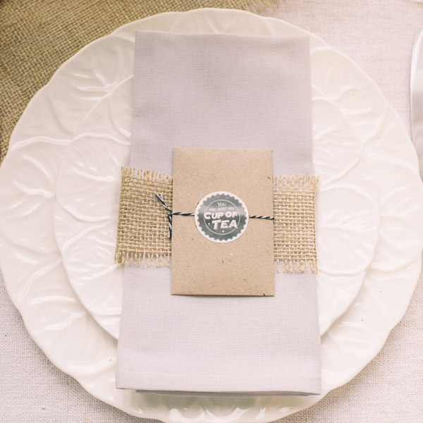 Tea Bag wedding favours just my cup of tea