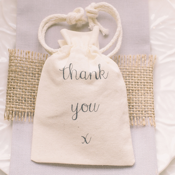 Thank You cotton bags wedding Favour Bags