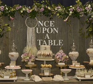 rustic wedding dessert table once upon a table