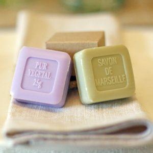 wedding favours purple soap green soap