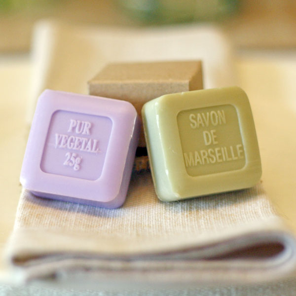 wedding favours purple soap green soap