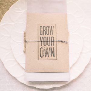 wedding favours seed packets