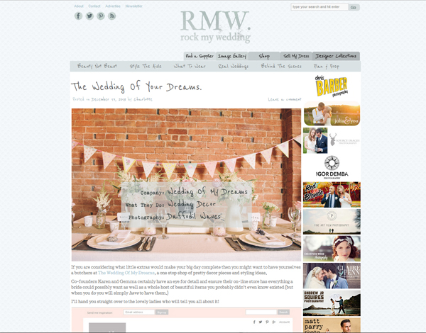 the wedding of my dreams featured on rock my wedding