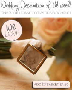 tiny photo frame for wedding bouquets