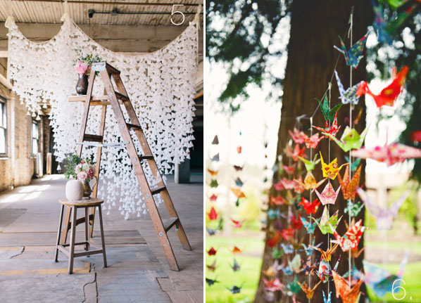 Paper Origami Backdrops For Weddings