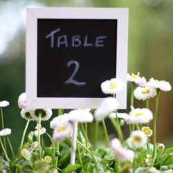 chalkboard table numbers wedding