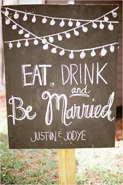 blackboard wedding ideas