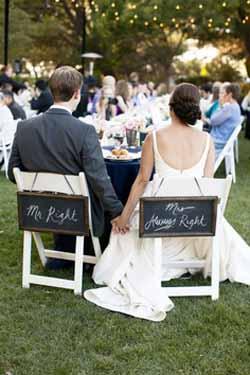 blackboard wedding ideas wedding chair backs