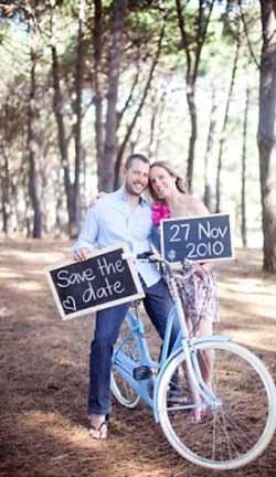 blackboard wedding save the date ideas