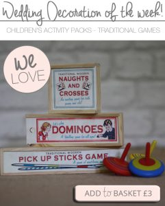 children's wedding activity packs traditional games dominoes noughts and crosses pick up sticks